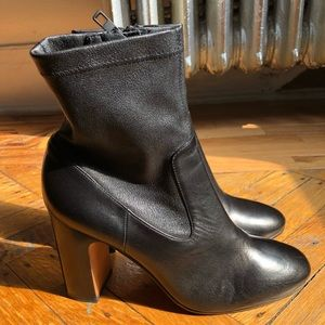 Vince Calista Black Leather Boots (F16)